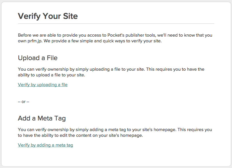 Verify your site